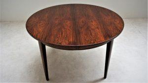 table de salle à manger ronde en palissandre Omann Jun. Vintage. XXème. Design. Midcentury. Galerie87.com