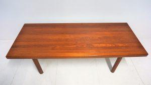 Table basse scandinave en teck. Vintage. Design du XXème. antiquités du XXème. www.galerie87.com