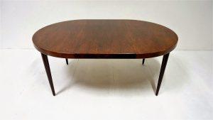 Table scandinave palissandre. Kai Kristiansen. vintage. design du XXème. antiquités. Galerie87.com