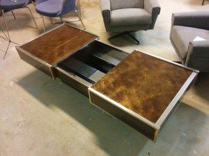 Table bar de Willy Rizzo. Antiquités du XXème. Design du XXème. Meuble vintage. www.galerie87.com
