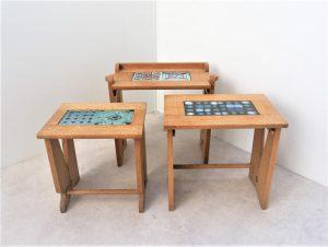 Tables gigogne Votre Maison. Danikovski Guillerme et Chambron. Vintage. Design. Midcentury. XXème. Galerie87.com